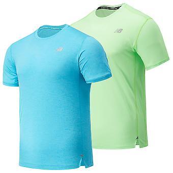 New Balance Mens 2021 Impact Run SS Breathable Lightweight Quick Dry T-Shirt