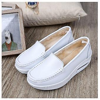Dámské zimní teplé boty plus sametové dámské tónovací swingové boty, nová klínová kůže