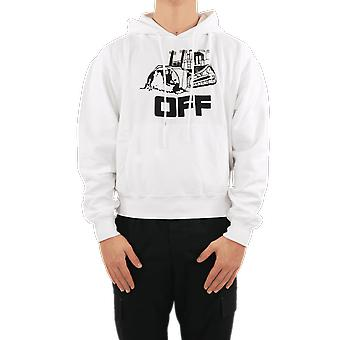 OFF WHITE World Caterpillar Over Hoodie White OMBB037R21FLE009110 Top