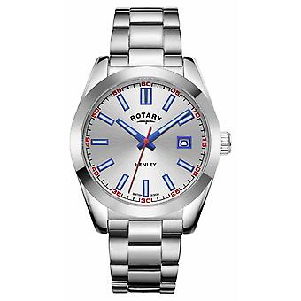 Rotary Mens | Henley | Silver Dial | Stainless Steel Bracelet GB05180/59 Watch