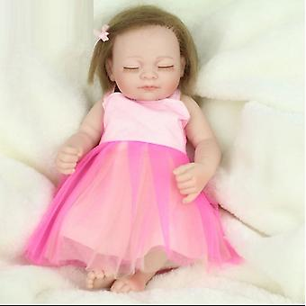 Handmade Vinyl Silicone Realistic Baby Girl Doll With Wig