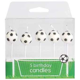Jalkapallo kynttilät - 5 kpl