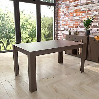 Medine 6 Seater Dining Table, Walnut