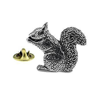 Squirrel Pewter Lapel Pin
