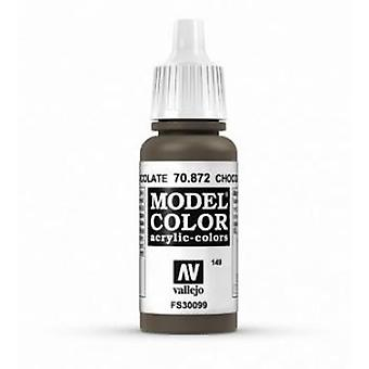 Vallejo Model Color 17ml Acrylic Paint - 872 Chocolate Brown