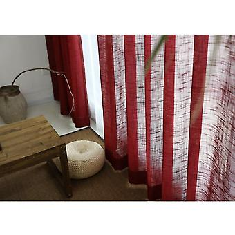 Reine Farbe Baumwolle Leinen Vorhang (Set 2)
