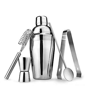A Cocktail Shaker Set With 5 Cocktail Tools And Professional Formulas