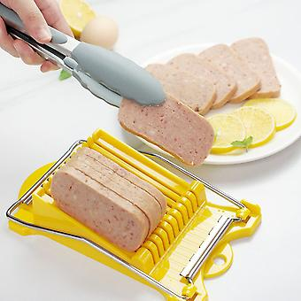 Lunch Meat Slicer 10 Stainless Steel Wires Slicer Food Cutter Kitchen Gadget for Cheese Egg Vegetable Fruits Soft Food Sushi