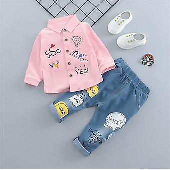 Kids Clothing For Casual Clothes Embroidery Shirt Denim Pants