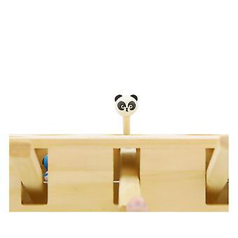 インタラクティブな木製の猫のおもちゃ面白い狩猟子猫教育3 5穴マウスを再生する