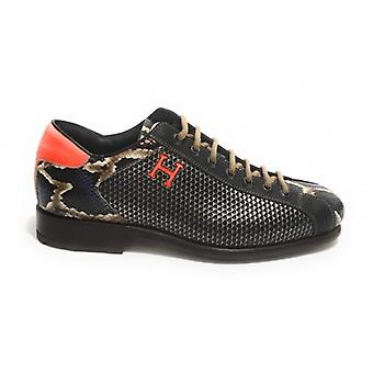 Men's Shoes Harris Leather Soccer Bottom Elaphe Viola/ Brown/ Kubric Metal U17ha148