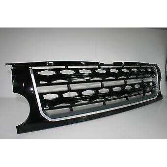 Land Rover Discovery Gloss Black met Gloss Black D4 Mesh en Silver Trim Conversion (2009 - 2013)