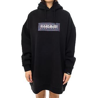 Women's sweatshirt napapijri box check w long black na4dvm041