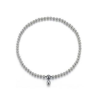 Collana di perle Adriana Freshwater e con argento appeso 45 cm L24-6