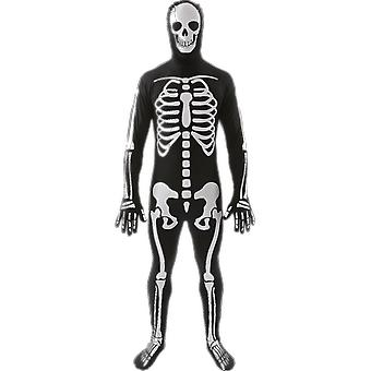 Mens skelet kostuum Halloween Film Fancy Dress kostuum