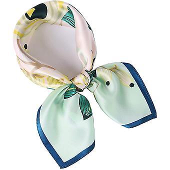 lapre - Seidenschal Kleiner Seidentuch Damen Bandana Halstuch Kopftuch Vierecktuch Seide Schal Druck