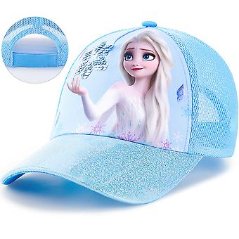 Children's hats for girls spring and autumn frozen sun visor sun hat