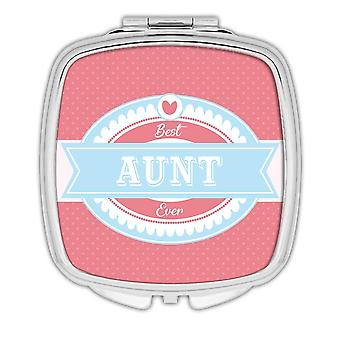 Gift Compact Mirror: Best AUNT Ever Christmas