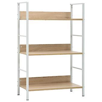 vidaXL Bookshelf 3 shelves Oak optics 60×27,6×90,5 cm Chipboard