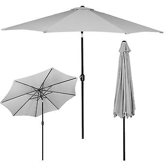Tuinparasol 300 cm Grijs met hellingfunctie - opvouwbare parasol