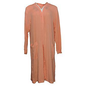Cuddl Duds Women's Sweater Reg Open Front w/ Pockets Pink A391552
