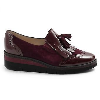 Sangiorgio Bordeaux damsko i läder och mocka med fringe