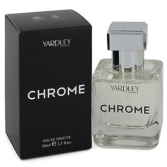 Yardley Chrome-kehittäjä: Yardley London Eau De Toilette Spray 1,7 oz