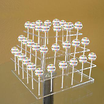 OnDisplay Cake Pops 3 Tiered Acrylic Display Stand - 48 Slot