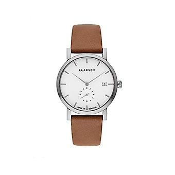 LLARSEN Analogueic Watch Quartz Woman with Leather Strap 137SWS3-SCAMEL18
