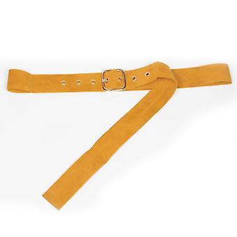Women Round Metal Pin Buckle Circle Leather Belts