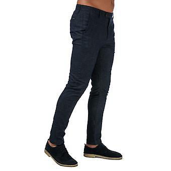 Mænds Ted Baker Haloe Super Slim Plain Bukser i blåt