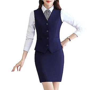 Allthemen Women's Business V-neck Formal Vest Office Ladies Solid Color Vest