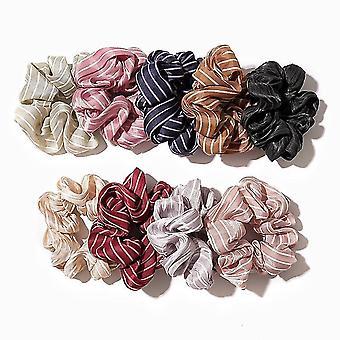 Fasce per capelli a righe per cravatte per capelli per donne o ragazze
