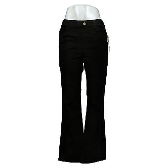 IMAN Global Chic Mujeres's Jeans Ilusión Pull-On Bootcut Negro 734928001