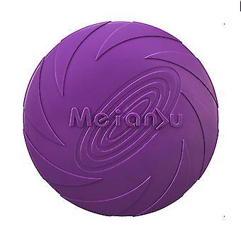 L 22cm violetti koira lentävä levy lelu 5.9 / 7.1 / 8.7inch, lemmikkieläinten koulutus kumi frisbee, kelluva vesi koira lelu interaktiivisia leluja az7977