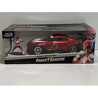 Power Rangers Red Ranger och 2009 Nissan GT-R R35 1:24 Jada 31908