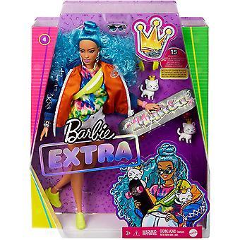 Barbie ekstra dukke #4 med skateboard &2 kattunger