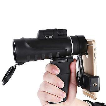 10x42 HD Zoom Monocular Waterproof Telescope Camping Night Vision Bird Watching With Phone Clip