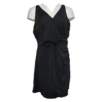 الدنيم وشركاه ملابس السباحة شاطئ التفاف الجبهة السباحة فستان أسود A392716