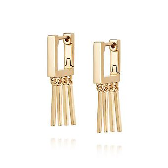 Daisy Moira Rose Huggie Hoop 18ct Gold Plate Earrings HUG03_GP