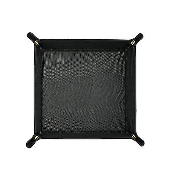New Functional Foldable Storage Box Leather Tray
