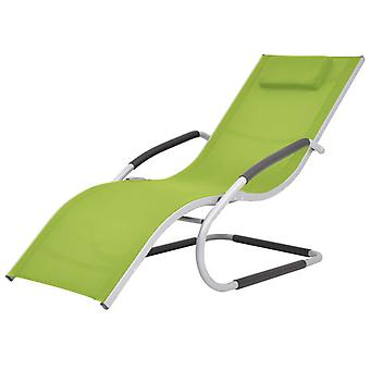 vidaXL solseng med støtte aluminium og tekstilgrønn