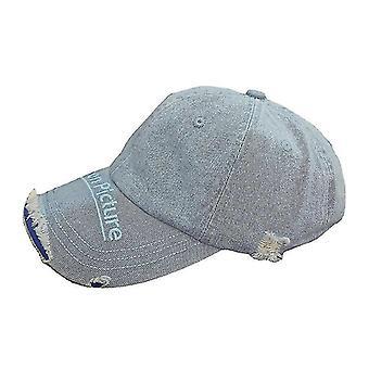 Chapeau de snapback en pierre de strass de calotte de base-ball déchiré de denim