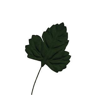 LAST FEW - 36 Large Satin Fabric Oak Leaf pour l'artisanat de la fleuristerie - Vert