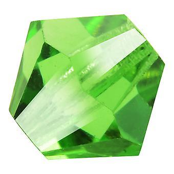 Preciosa tjekkisk krystal, Bicone Perle 4mm, 36 stykker, Peridot