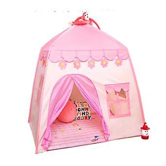 女の子はテントインドア赤ちゃんプリンセス城小さな睡眠女の子テントキッズテントテントハウスピンクをプレイ
