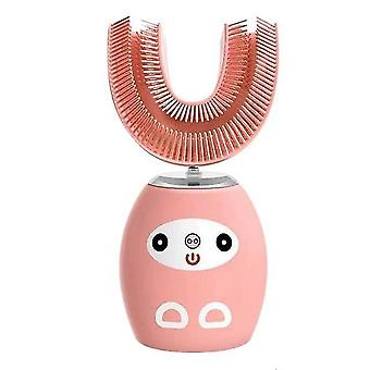 U-shaped electric toothbrush recharge automatic ultrasonic toothbrush kids cartoon pattern