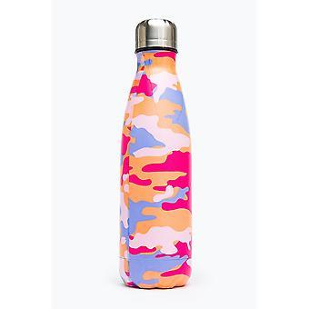 Hype Peach Camo Metal Water Bottle