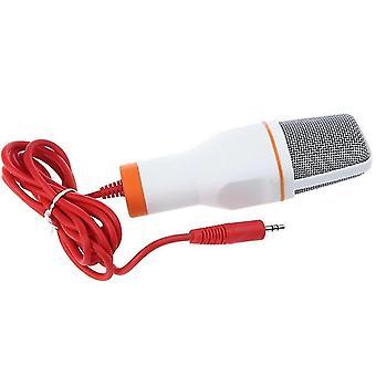 Condenseur Microphone 3.5mm Plug Home Stereo (Blanc)