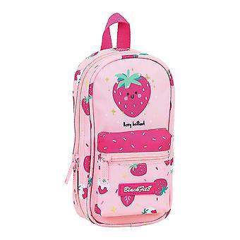 Estuche de lápiz de mochila BlackFit8 Berry Rosa brillante